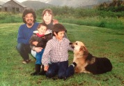 Our family....and dog, around 1994.